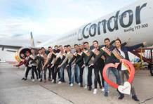 Condor flies Mister Germany Candidates