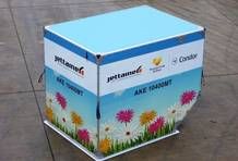 containers with a special floral design
