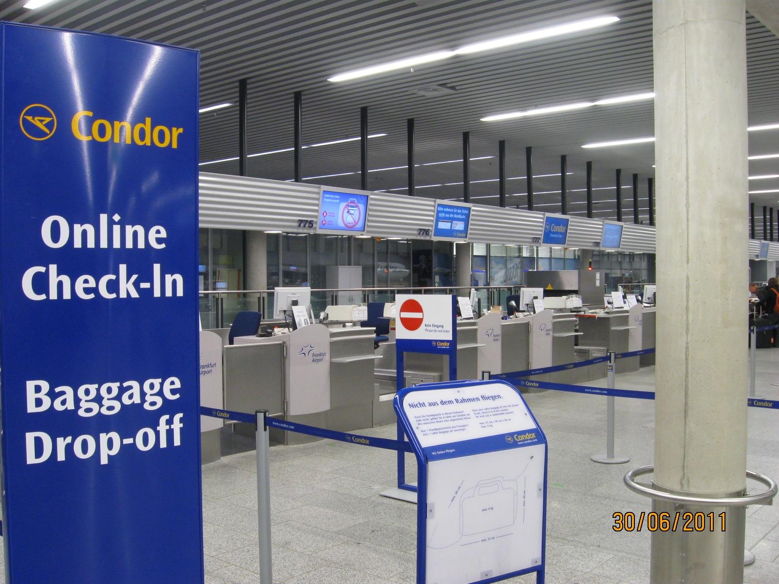 Condor - Condor Online Check-in mit mehr Service: Comfort Check-in